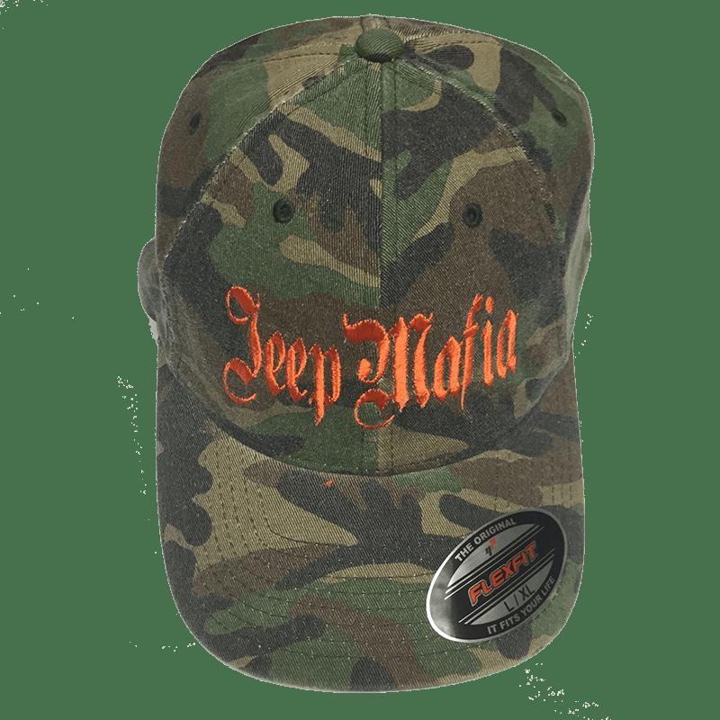 Jeepmafia Camo Hat Orange Letters Jeepmafia