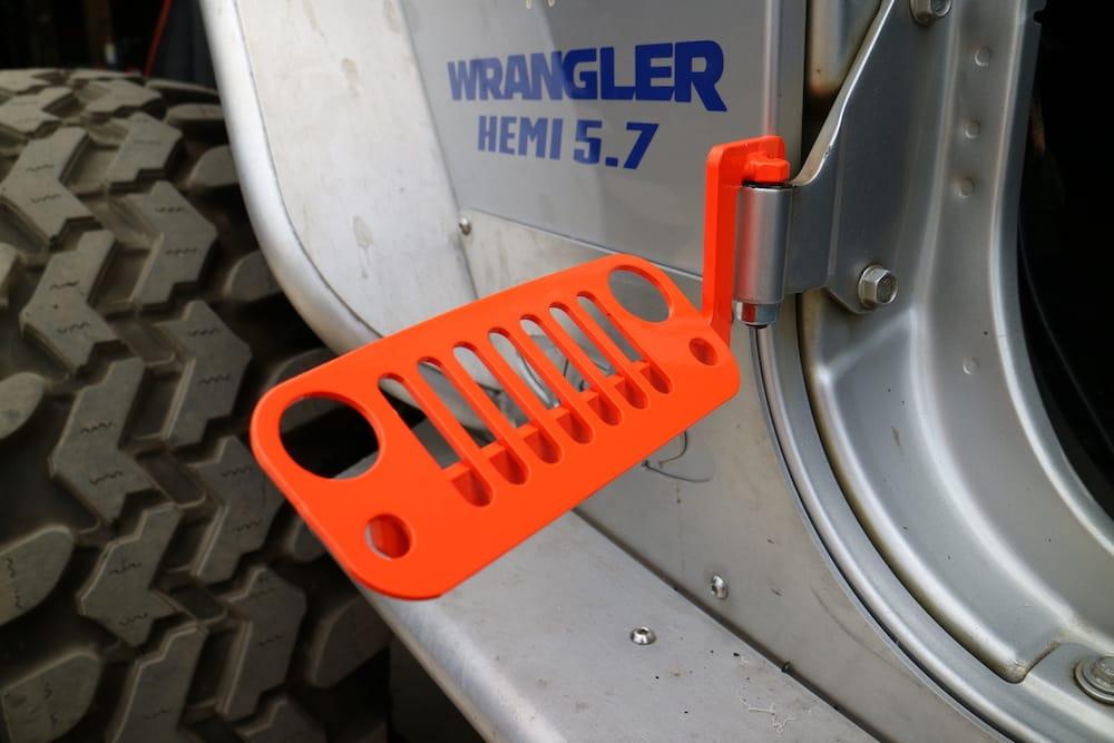 JK ... & JK Wrangler Jeep Foot Pegs Orange 2007 - 2018 100% Made u0026 Welded in ...